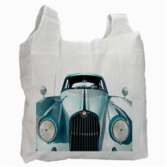Oldtimer Car Vintage Automobile Recycle Bag (one Side) by Nexatart