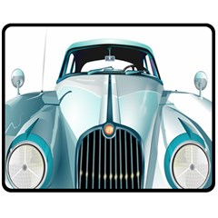 Oldtimer Car Vintage Automobile Fleece Blanket (medium)
