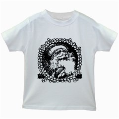 Santa Claus Christmas Holly Kids White T Shirts