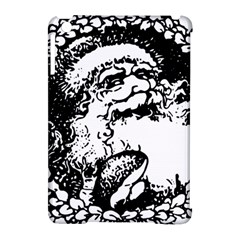 Santa Claus Christmas Holly Apple Ipad Mini Hardshell Case (compatible With Smart Cover)