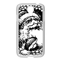 Santa Claus Christmas Holly Samsung Galaxy S4 I9500/ I9505 Case (white)