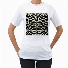 SKN2 BK-MRBL BG-LIN Women s T-Shirt (White)