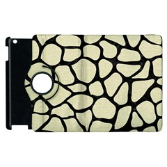 Skin1 Black Marble & Beige Linen Apple Ipad 3/4 Flip 360 Case by trendistuff