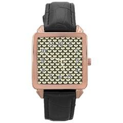 SCA3 BK-MRBL BG-LIN (R) Rose Gold Leather Watch  by trendistuff
