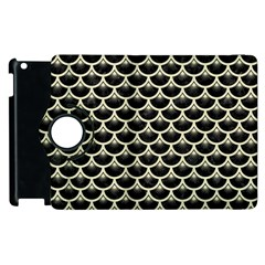 Scales3 Black Marble & Beige Linen Apple Ipad 3/4 Flip 360 Case by trendistuff