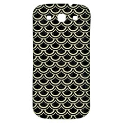 Scales2 Black Marble & Beige Linen Samsung Galaxy S3 S Iii Classic Hardshell Back Case