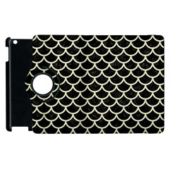 Scales1 Black Marble & Beige Linen Apple Ipad 3/4 Flip 360 Case by trendistuff