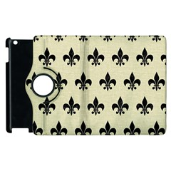 Royal1 Black Marble & Beige Linen Apple Ipad 3/4 Flip 360 Case by trendistuff