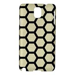 Hexagon2 Black Marble & Beige Linen (r) Samsung Galaxy Note 3 N9005 Hardshell Case by trendistuff