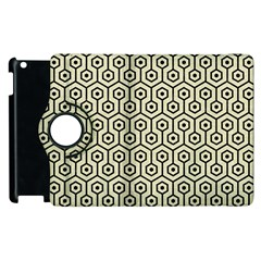 Hexagon1 Black Marble & Beige Linen (r) Apple Ipad 3/4 Flip 360 Case by trendistuff