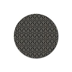 HXG1 BK-MRBL BG-LIN Rubber Coaster (Round)