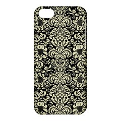 Damask2 Black Marble & Beige Linen Apple Iphone 5c Hardshell Case by trendistuff