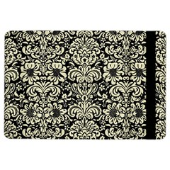 Damask2 Black Marble & Beige Linen Apple Ipad Air 2 Flip Case by trendistuff