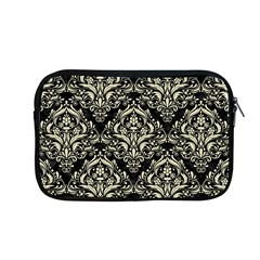 Damask1 Black Marble & Beige Linen Apple Macbook Pro 13  Zipper Case by trendistuff