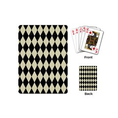 Diamond1 Black Marble & Beige Linen Playing Cards (mini) by trendistuff