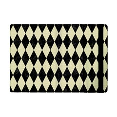 Diamond1 Black Marble & Beige Linen Apple Ipad Mini 2 Flip Case by trendistuff