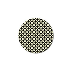 Circles3 Black Marble & Beige Linen Golf Ball Marker (10 Pack) by trendistuff