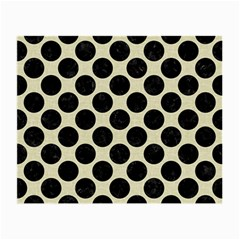 Circles2 Black Marble & Beige Linen (r) Small Glasses Cloth (2 Sides) by trendistuff