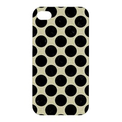 Circles2 Black Marble & Beige Linen (r) Apple Iphone 4/4s Premium Hardshell Case by trendistuff