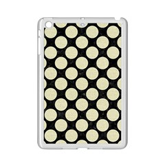 Circles2 Black Marble & Beige Linen Apple Ipad Mini 2 Case (white) by trendistuff