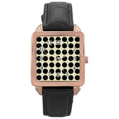 CIR1 BK-MRBL BG-LIN (R) Rose Gold Leather Watch