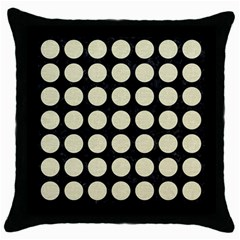 Circles1 Black Marble & Beige Linen Throw Pillow Case (black) by trendistuff