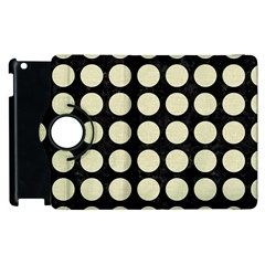 Circles1 Black Marble & Beige Linen Apple Ipad 3/4 Flip 360 Case by trendistuff