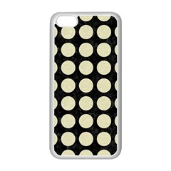 Circles1 Black Marble & Beige Linen Apple Iphone 5c Seamless Case (white) by trendistuff