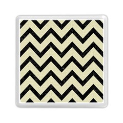 Chevron9 Black Marble & Beige Linen (r) Memory Card Reader (square) by trendistuff