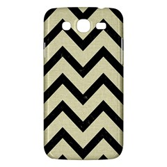 Chevron9 Black Marble & Beige Linen (r) Samsung Galaxy Mega 5 8 I9152 Hardshell Case  by trendistuff