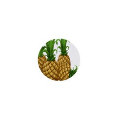 Pineapples Tropical Fruits Foods 1  Mini Buttons