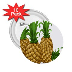 Pineapples Tropical Fruits Foods 2 25  Buttons (10 Pack)