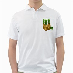 Pineapples Tropical Fruits Foods Golf Shirts