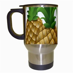 Pineapples Tropical Fruits Foods Travel Mugs (white)