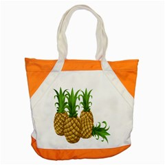 Pineapples Tropical Fruits Foods Accent Tote Bag by Nexatart