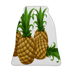 Pineapples Tropical Fruits Foods Bell Ornament (two Sides)