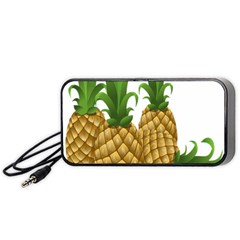 Pineapples Tropical Fruits Foods Portable Speaker (black) by Nexatart