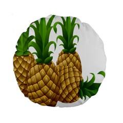 Pineapples Tropical Fruits Foods Standard 15  Premium Round Cushions
