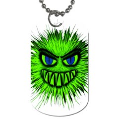 Monster Green Evil Common Dog Tag (two Sides)