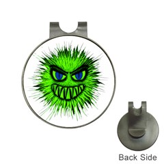 Monster Green Evil Common Hat Clips With Golf Markers