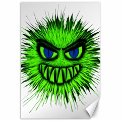 Monster Green Evil Common Canvas 12  X 18