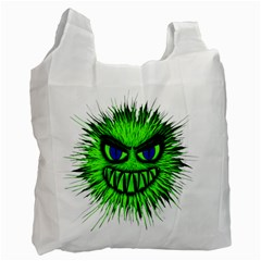 Monster Green Evil Common Recycle Bag (one Side)