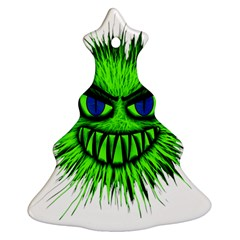 Monster Green Evil Common Ornament (christmas Tree)