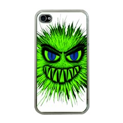 Monster Green Evil Common Apple Iphone 4 Case (clear)