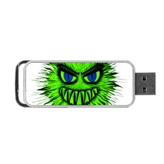 Monster Green Evil Common Portable Usb Flash (one Side)