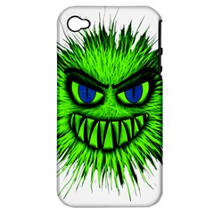 Monster Green Evil Common Apple Iphone 4/4s Hardshell Case (pc+silicone)