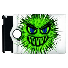 Monster Green Evil Common Apple Ipad 3/4 Flip 360 Case