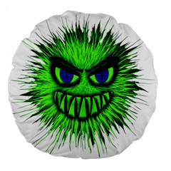 Monster Green Evil Common Large 18  Premium Round Cushions