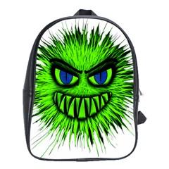 Monster Green Evil Common School Bags (xl)