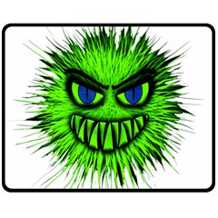 Monster Green Evil Common Double Sided Fleece Blanket (medium)